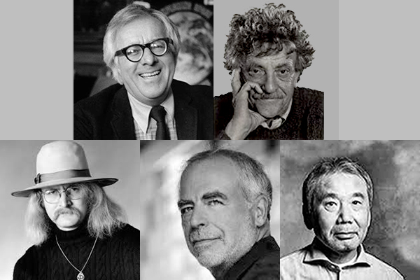 Head shots of five influential authors